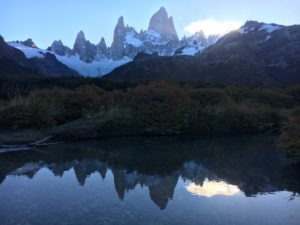 Reflections of Fitz Roy in Argentina