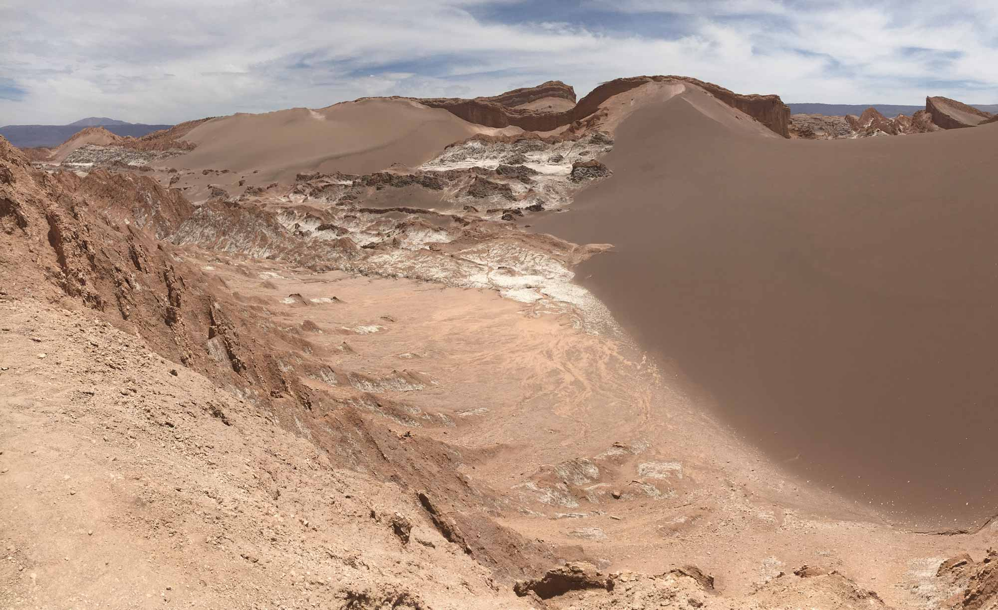 Sand dune in the Valle de la Luna