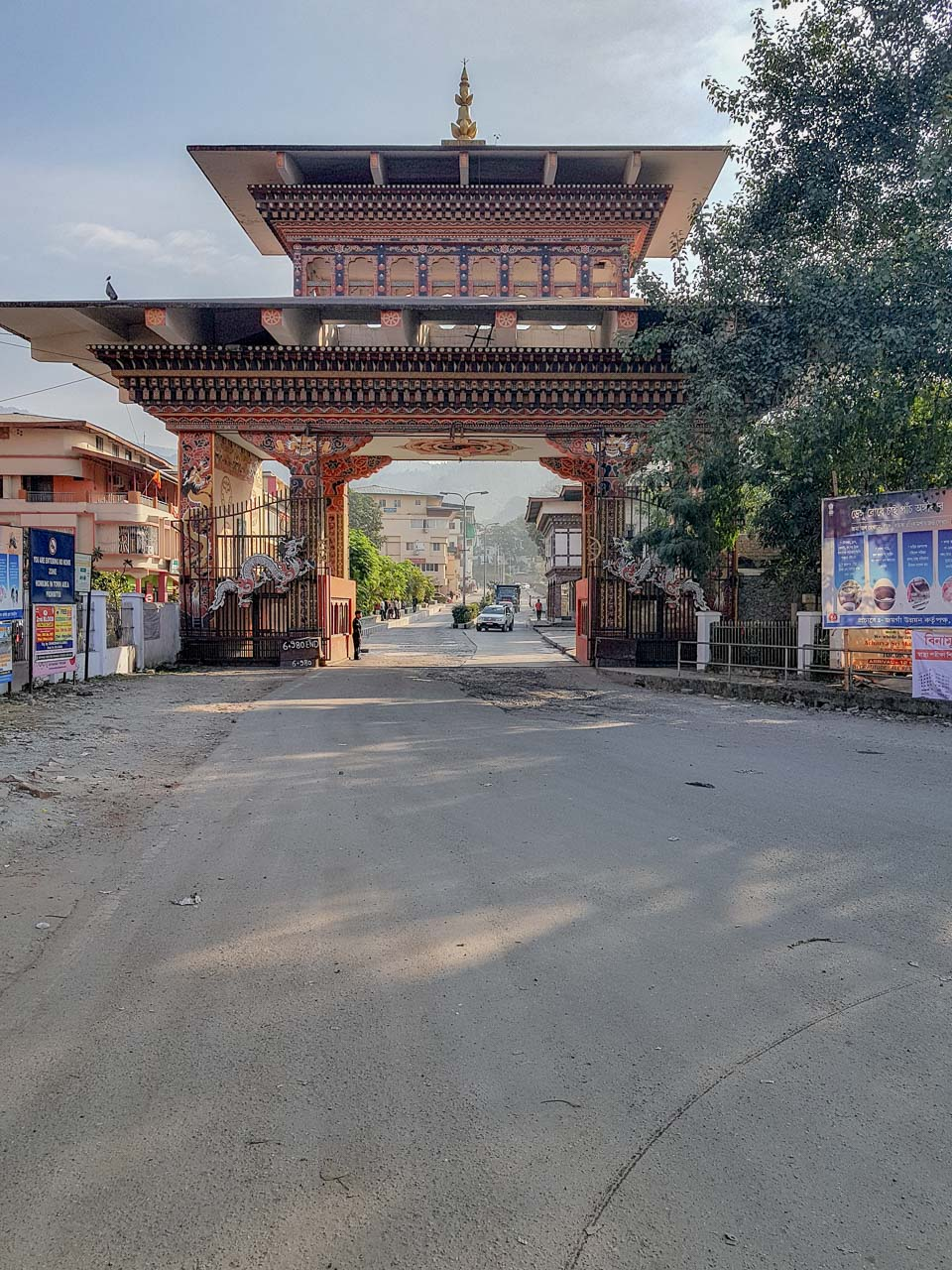 The Gate that separates India from Bhutan