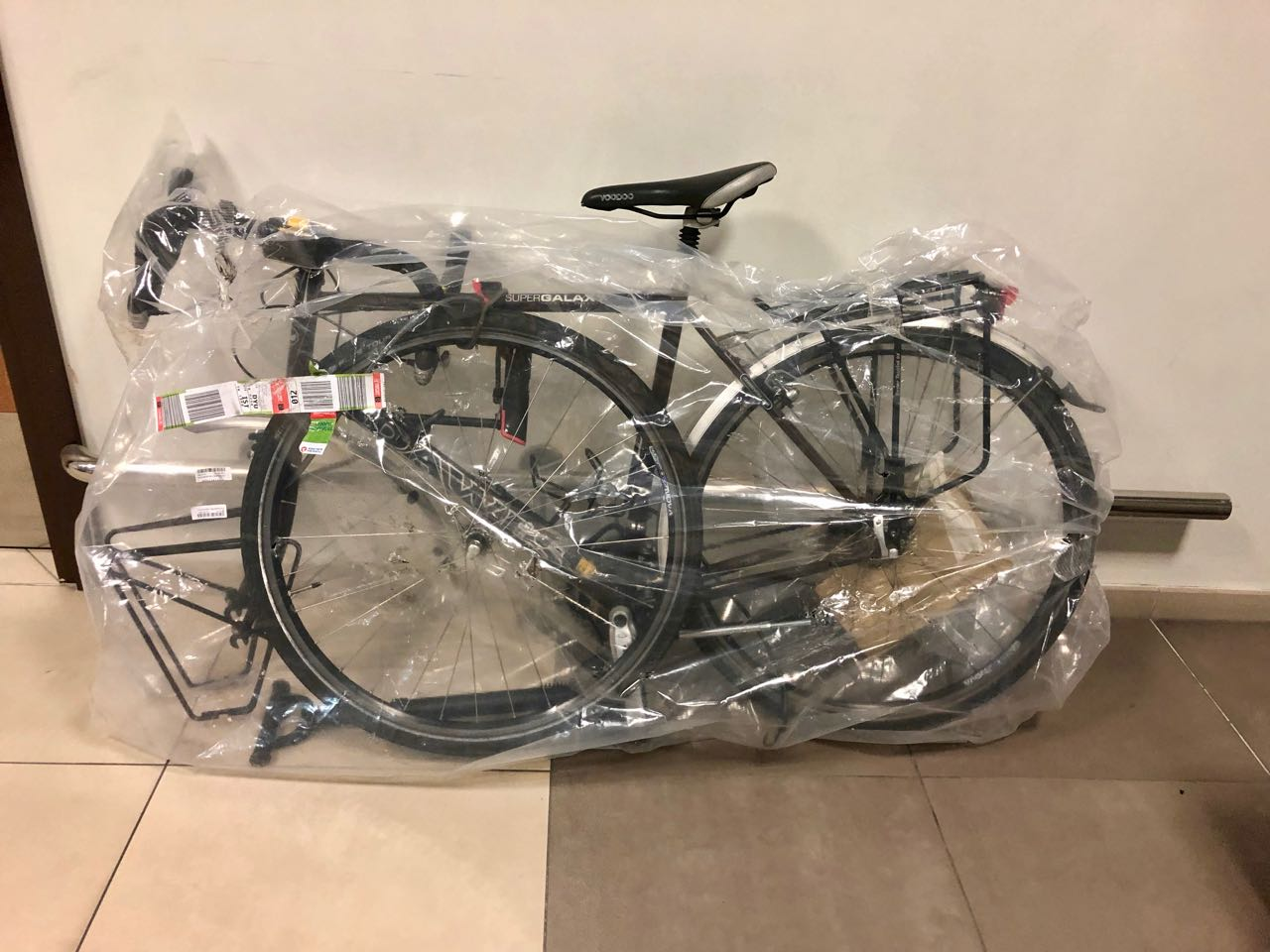 Bicycle in its packaging